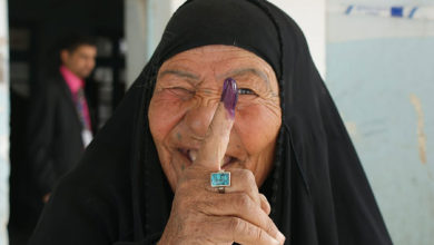 Iraqi woman after voting in Nasiriyah in 2010