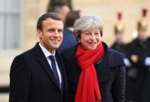 French President Emmanuel Macron and UK Prime Minister Theresa May
