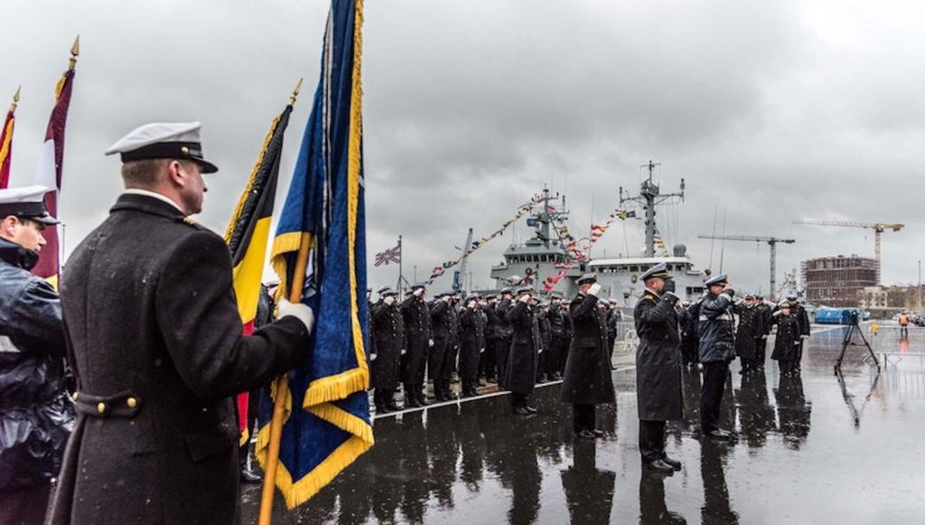 Command of Standing NATO Mine Countermeasures Group One moved from Latvian to Belgium leadership