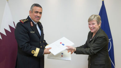 Qatari Brigadier General Tariq Khalid M. F. Alobaidli and NATO Deputy Secretary General Rose Gottemoeller signed a security agreement