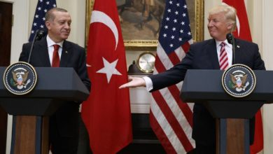 Trump and Erdogan shake hands