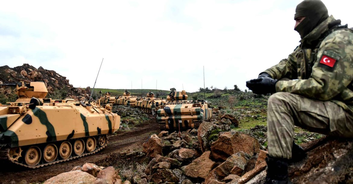 Turkish troops in Hatay province near the Syrian border