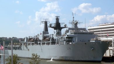 UK Royal Navy amphibious assault ship HMS Albion