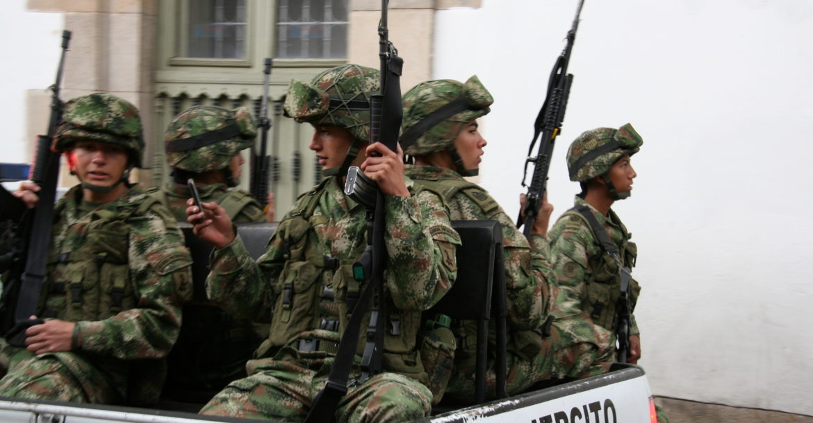 Colombia military police