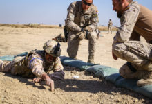 Iraqi soldiers train with NATO advisors in Iraq