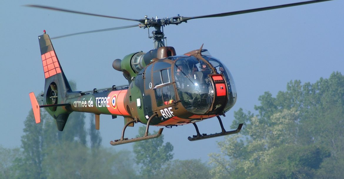 French army Gazelle helicopter