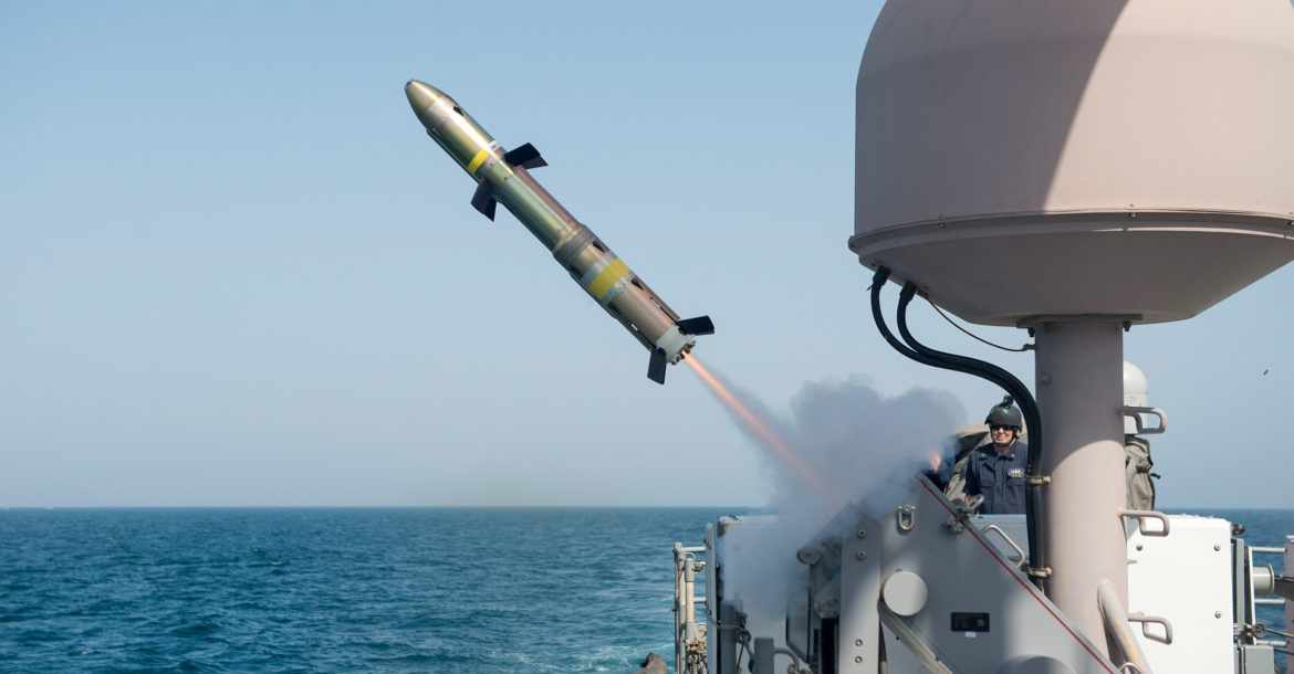 AGM-176 Griffin missile firing