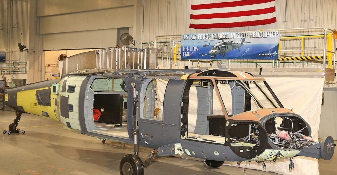 Sikorsky Combat Rescue Helicopter Final Assembly The First Sikorsky Hh 60w