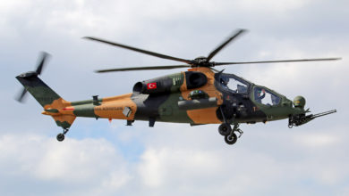 T129 ATAK helicopter