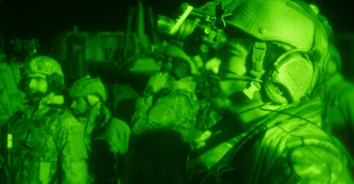 Afghan special operations forces in northern Afghanistan