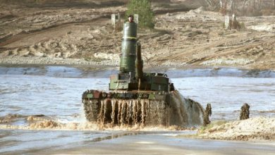 German Leopard 2 tank with turret snorkel