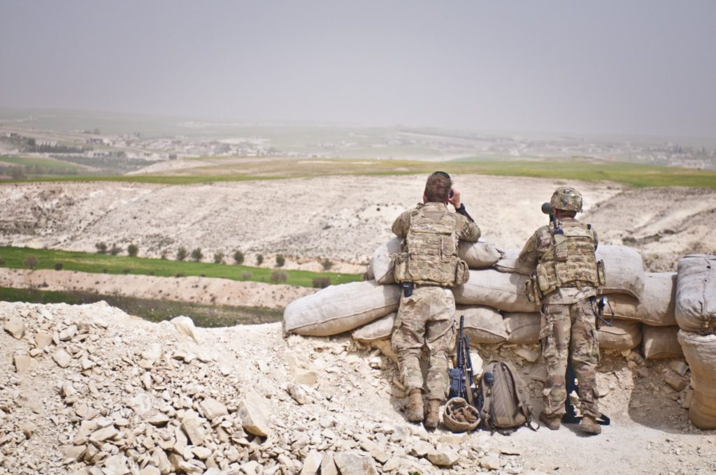 Coalition troops north of Manbij, Syria