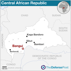 Key locations in the Central African Republic