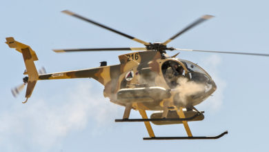 Afghan Air Force MD-530 helicopter
