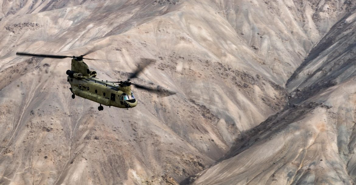 CH-47F Chinook helicopter, Afghanistan
