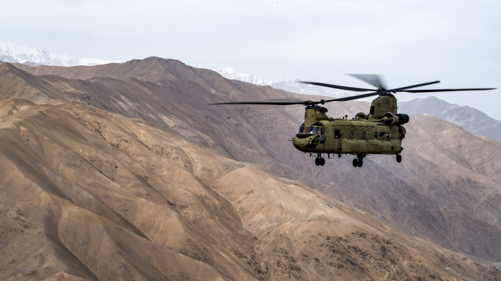 CH-47F Chinook helicopter Afghanistan