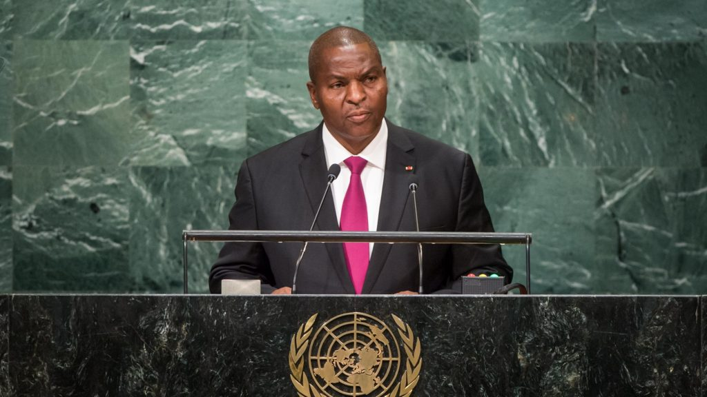 Central African Republic President Faustin Archange Touadera
