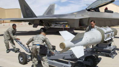 Joint Direct Attack Munition (JDAM) on F-22