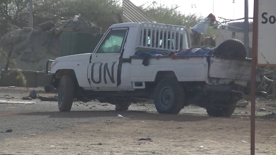 UN-marked vehicle used in Mali attack