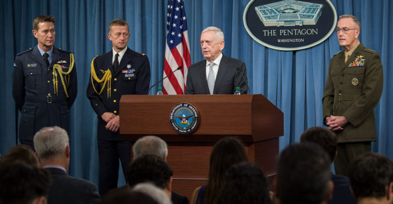 US, UK, France briefing on Syria air strikes
