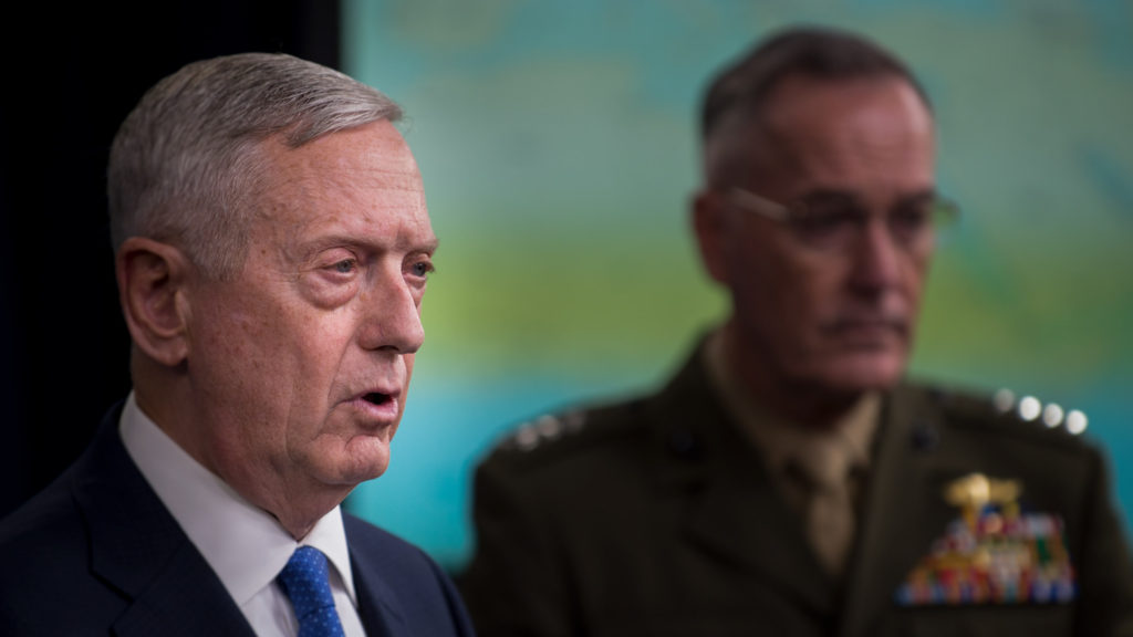 Mattis and Dunford briefing on ISIS