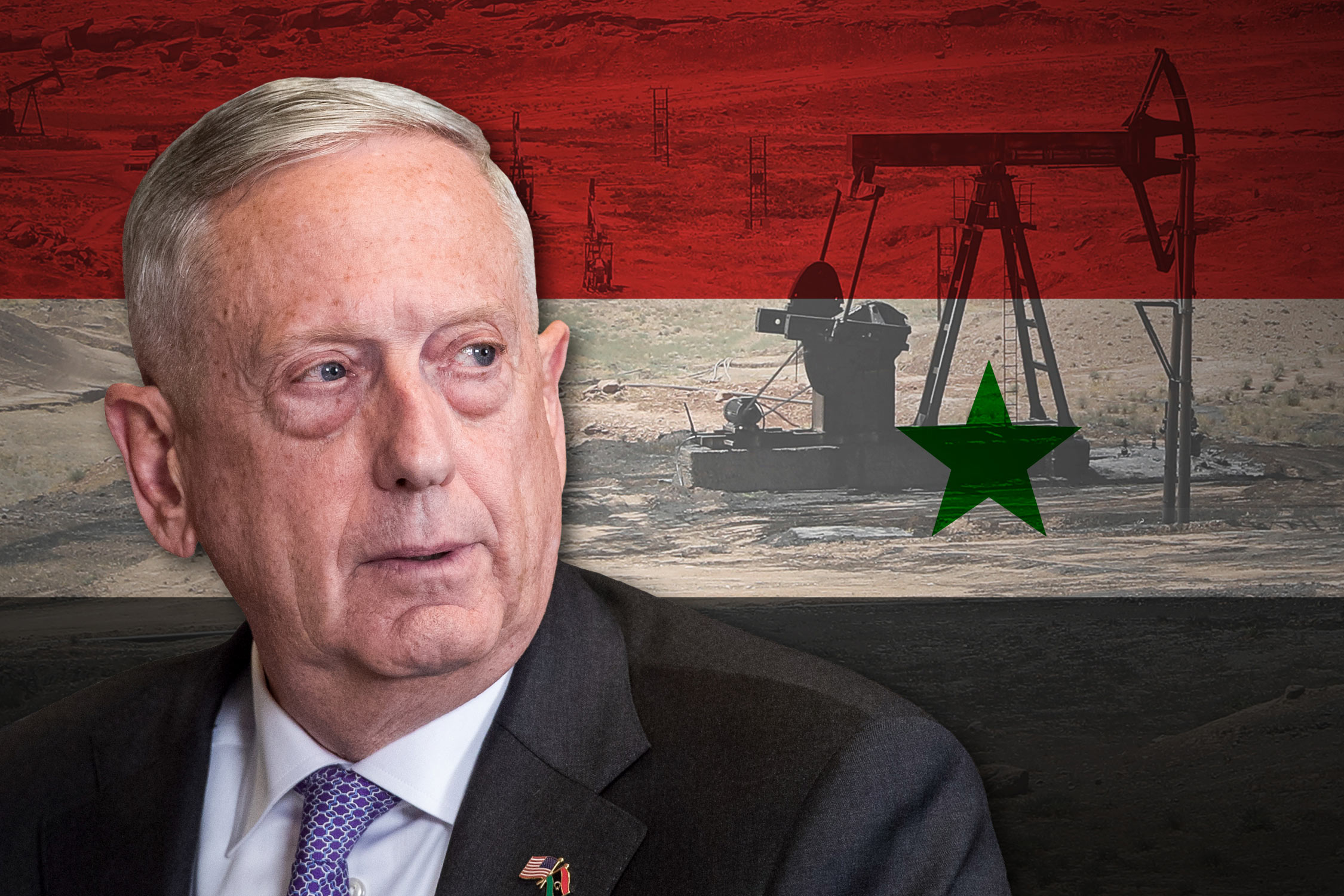 US Secretary of Defense James Mattis and Syria's oil