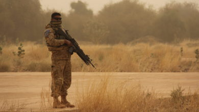 Minusma peacekeeper in Mali