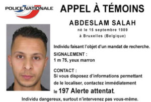Saleh Abdeslam wanted notice