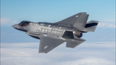 The F-35I 'Adir' fighter jet on its first flight in Israel