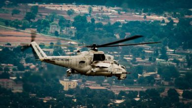 UN Mi-35 helicopter Minusca Central African Republic
