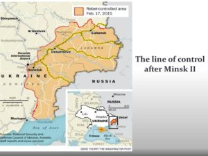 Line of control in Eastern Ukraine after the Minsk II agreement