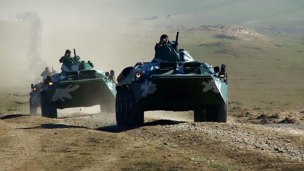 Azerbaijani BTR-70 armored personnel carriers