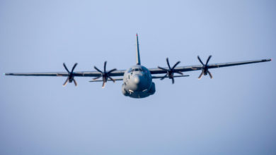 US Air Force C-130J Super Hercules transport aircraft