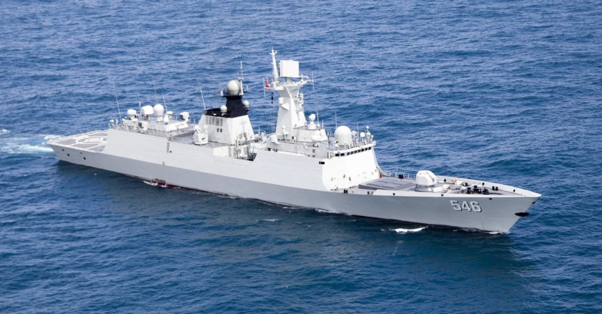 Chinese guided-missile frigate Yancheng