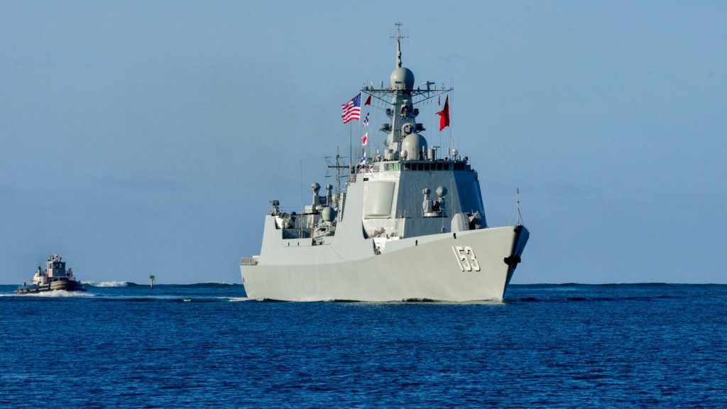 China missile destroyer arrives at Pearl Harbor