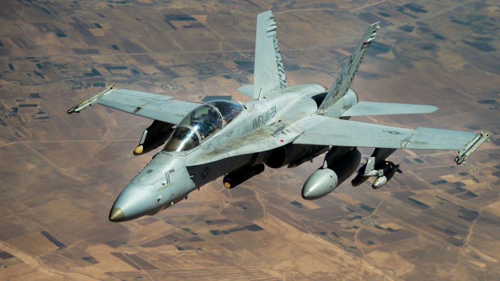 US Navy E/A-18G Growler over Syria