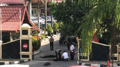 ISIS-claimed sword attack in Pekanbaru, Indonesia