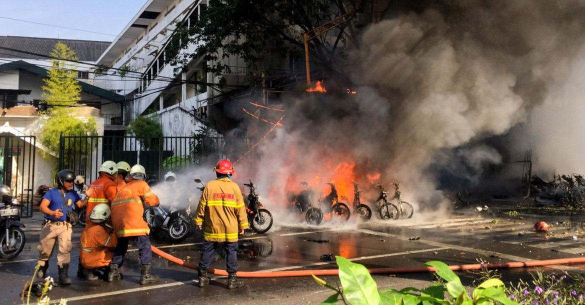 Explosion at Surabaya church