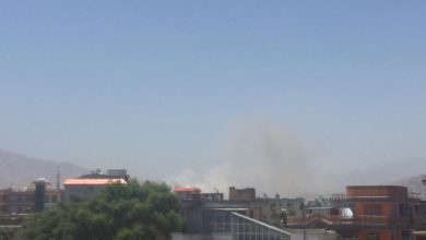 An explosion in the PD13 area of Kabul, Afghanistan