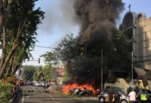 Explosion at Pentecost church, Surabaya, Indonesia