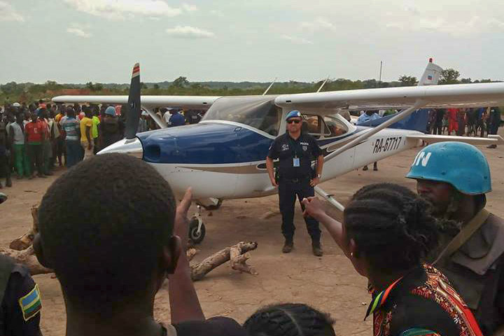 Russian plane, Kaga Bandoro, Central African Republic