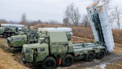 Russian S-300 air defense missile systems