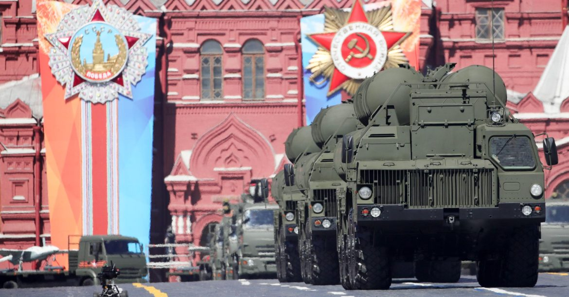 S-400 Triumf air defense missile launchers