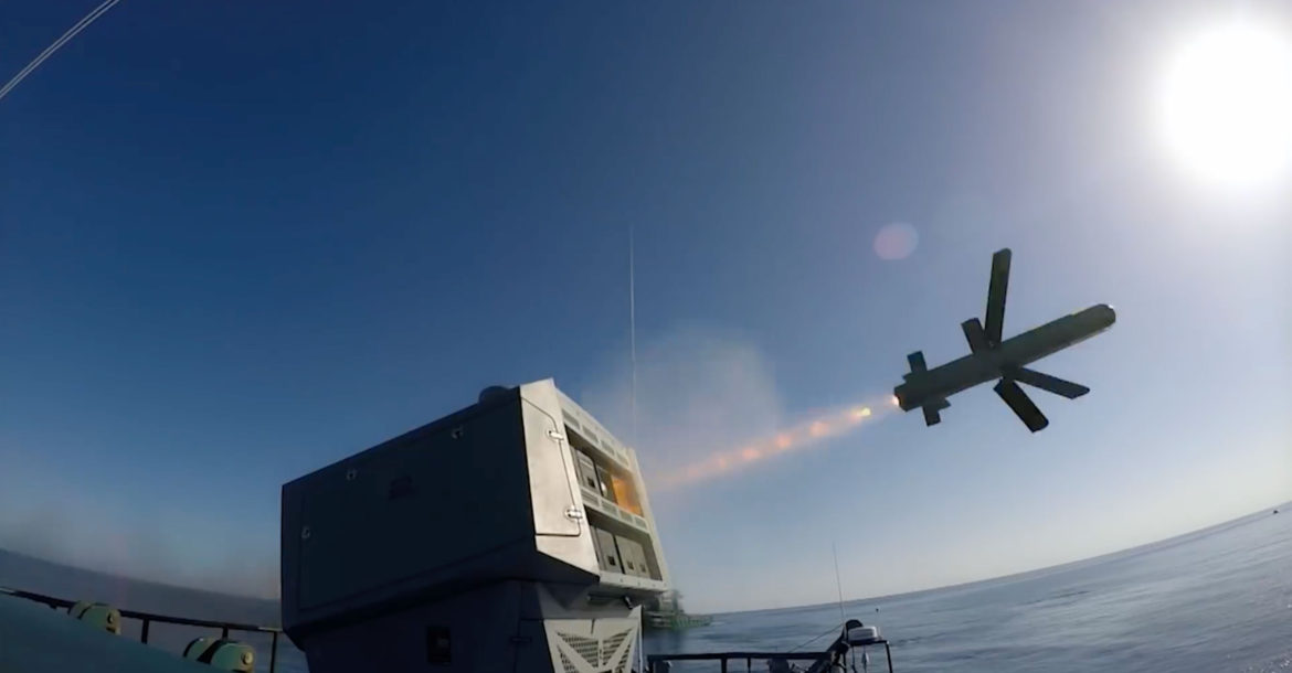 Spike missile launches from a Typhoon MLS-NLOS