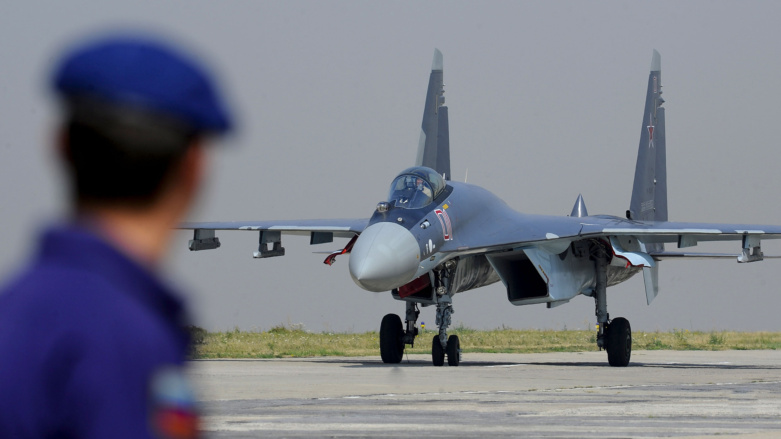 Russian Sukhoi Su-35 multi-role fighter aircraft