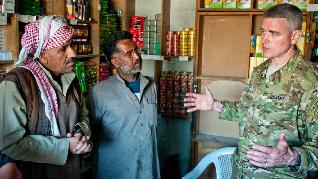 US Army General Braga visits Raqqa, Syria