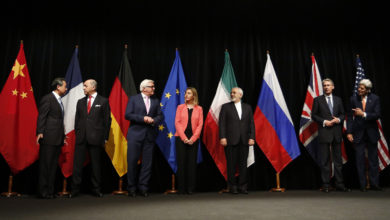 Foreign ministers announce the Iran nuclear deal (JCPOA)