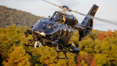 Airbus H145 helicopter with HForce weapon system