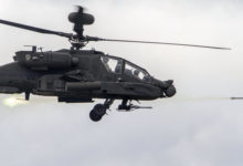US Army AH-64E Apache helicopter fires Hydra 70 rocket