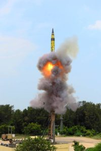 India test Agni-5 ballistic missile